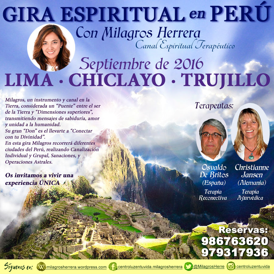Milagros Herrera Canal Espiritual Terapéutico