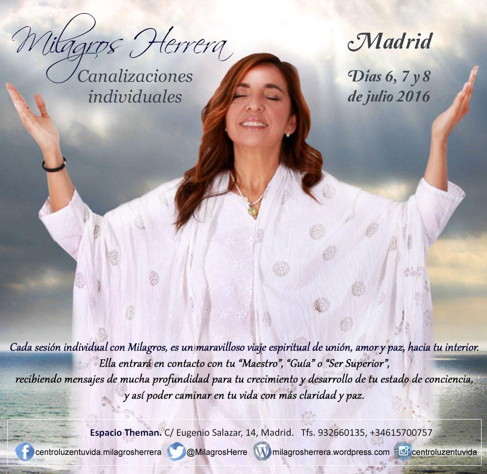 Canalizaciones individuales 6, 7 y 8 de julio en Madrid, reservas al: 932 660 135 y 615 700 757.
