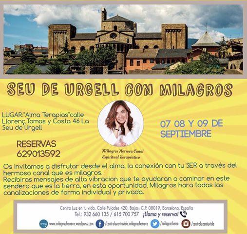 Milagros Herrera Canal Espiritual, citas individuales y grupales: 932 660 135