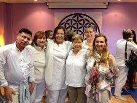 Milagros Herrera con hermanos de luz que nos acompañaron!