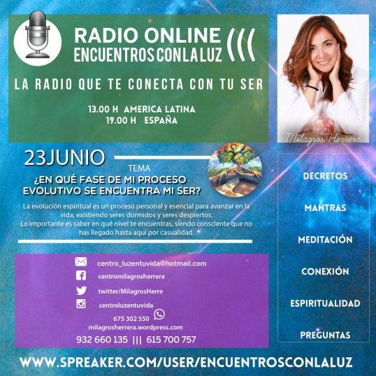 """Milagros Herrera conduce el programa de radio online """"Encuentros con la luz"""", citas individuales y grupales al: 932 660 135 y 615 700 757"""