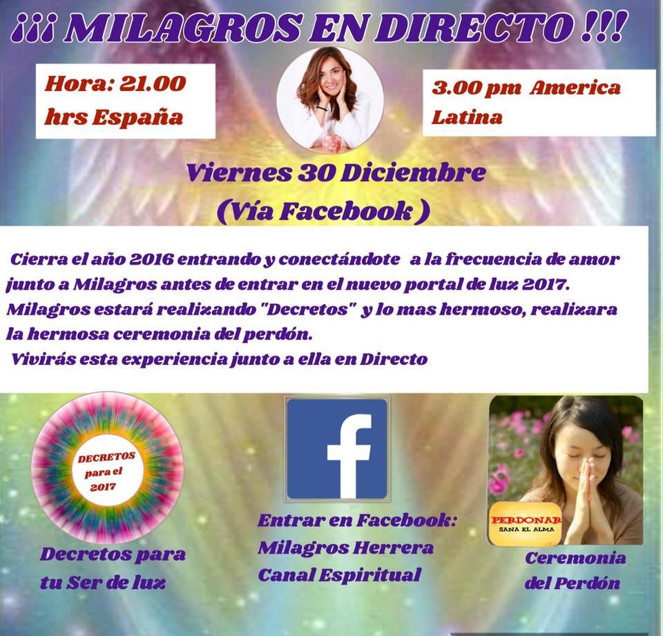 Milagros Herrera, Canal Espiritual Terapéutico, citas al: centro_luzentuvida@hotmail.com