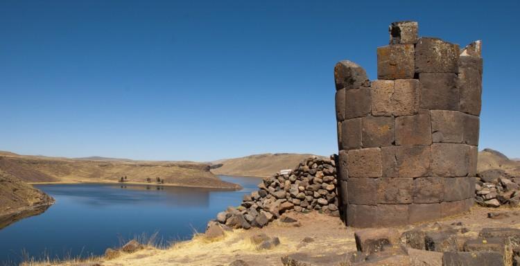Sillustani - pre-Incan burial ground (tombs) in Peru