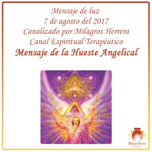 Hueste Angelical Mensaje de luz Milagros Herrera