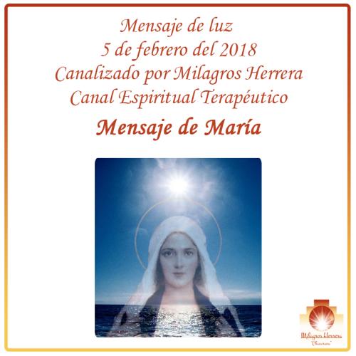 María Mensaje canalizado